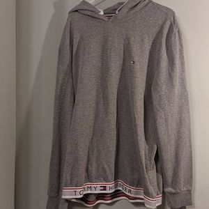 Tommy Hilfiger Gray Solid Lounge Hoodie Size XL